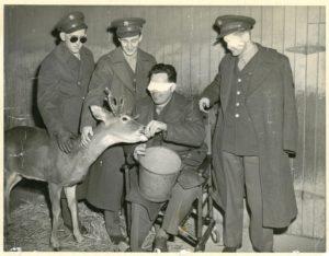 1945-Philadelphia-Zoo-LtR-Joseph-Lysak-Alfred-Therrien-John-Westmoreland-Arthur-Schultz