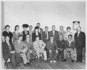 1946-BVA-Convention-Bot-Ralph-Graves-Lloyd-Greenwood-Bobby-Jones-Bill-Moke-Robert-Butler-Top-Betty-Graves-Kay-Gruber-Jones-Mother-Jim-Kyle-of-VA-Bill-Mokes-Wife