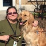 "Pauletta ""PJ"" Sisk with guide dog"